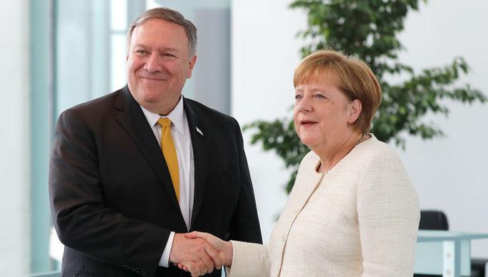 Помпео и Меркель обсудили Украину