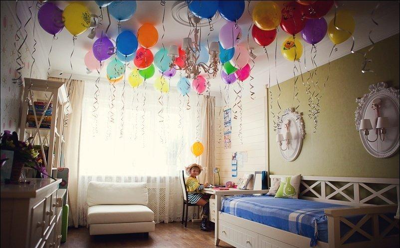 Украшение детской комнаты ко дню рождения